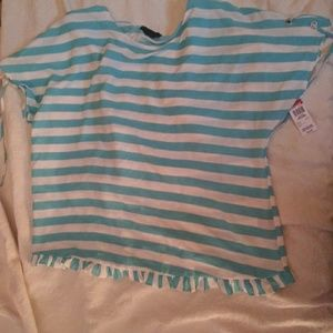 NWT Blue and White Summer Blouse